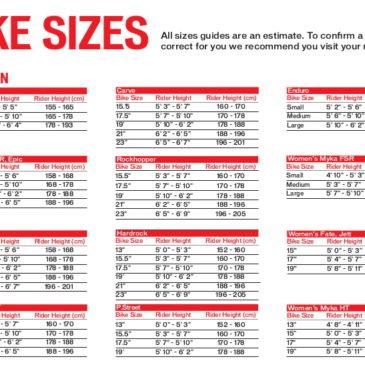Выбор размера велосипеда Specialized